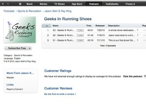 Geeks in Running Shoes - iTunes Screenshot